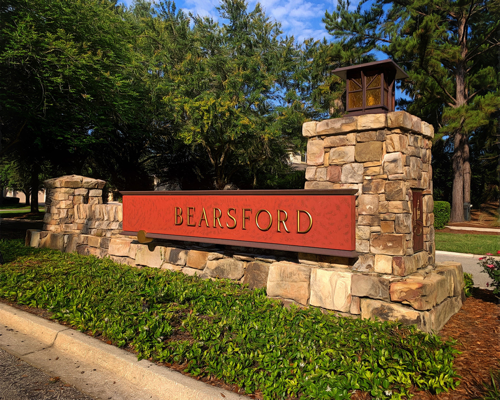 Bearsford neighborhood entrance