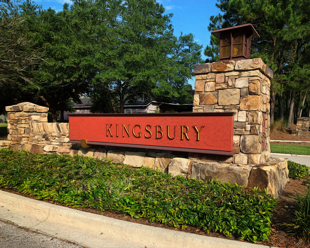 Kingsbury neighborhood entrance