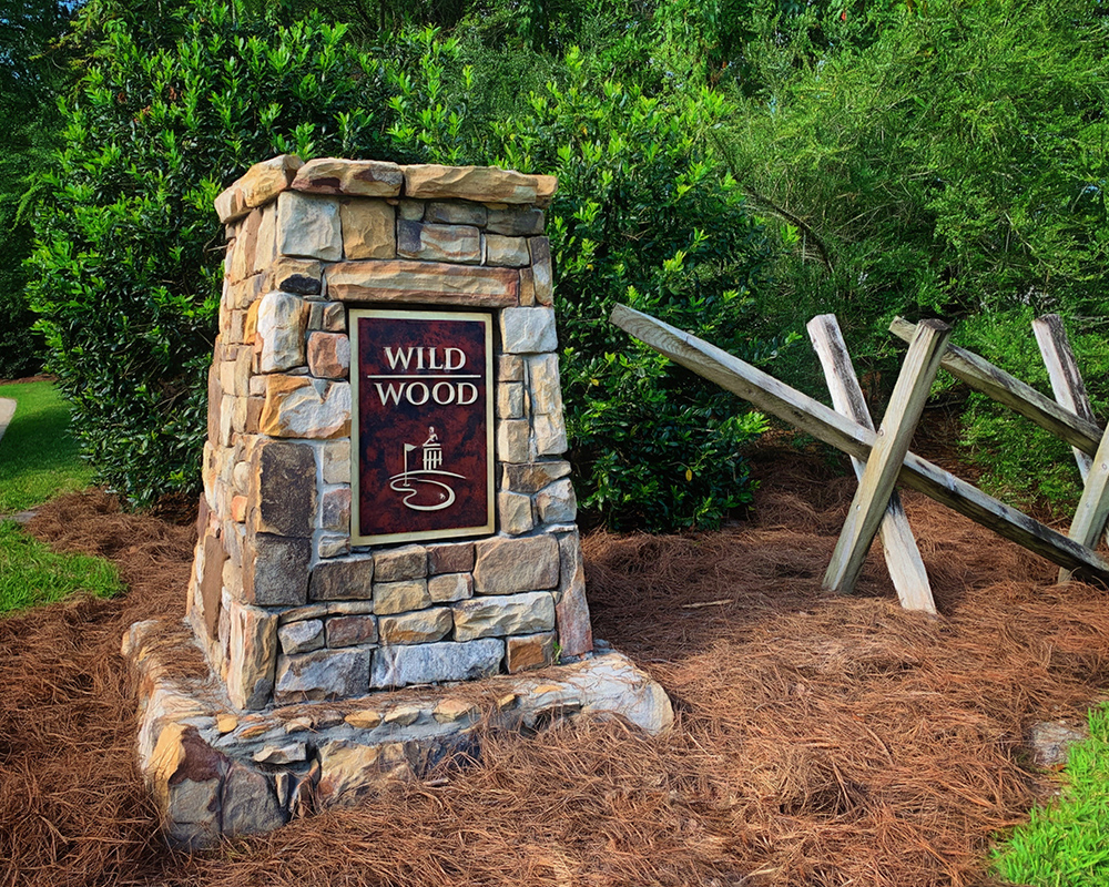 Wild Wood neighborhood entrance